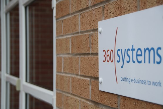 360 Systems sign outside the front door